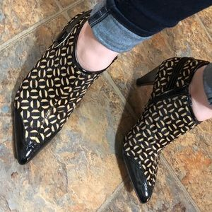 NWOT Franco Sarto Patterned Booties 7